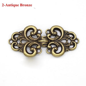 Women Vintage Shawl Brooch Flower Patterns Clip