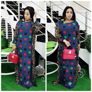 Spring Long Sleeve Maxi Dress African Ladies