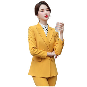 Ladies Formal Double Breasted Blazer Set
