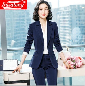 Elegant Women  two Pieces Blazer Set