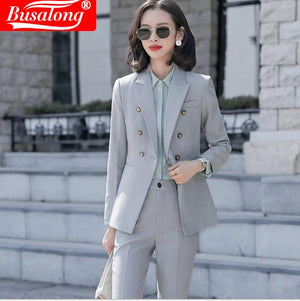 Women Long Sleeve Formal Office Suit