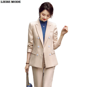 Ladies Double-breasted Formal  Blazer
