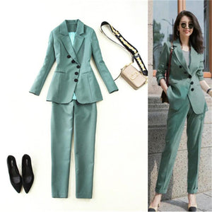 Ladies Office Trouser Blazer Suit