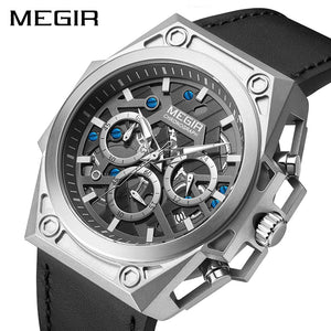Stainless Steel Mens Watches Waterproof Sports Men Quartz Wristwatches