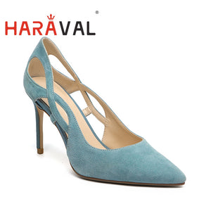 2020 New Spring  Autumn Women Pumps high heels Sweet style Blue colour Shoes ladies Pumps