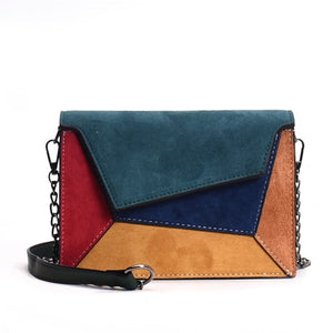 New Retro Matte Patchwork Crossbody Bags for Women Small Flap Bags
