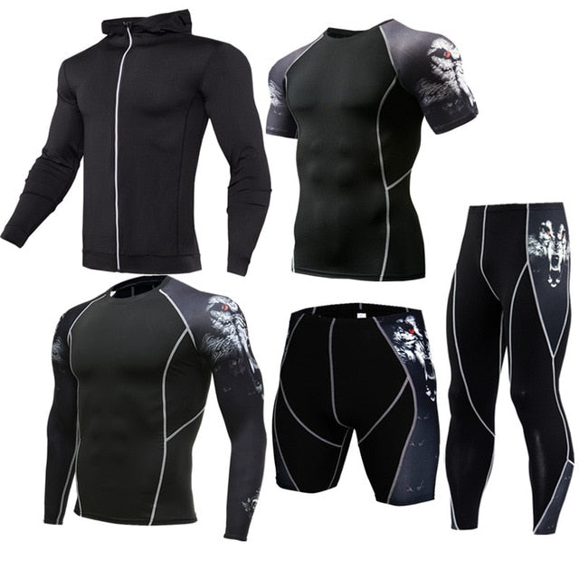 Men Sportswear Compression Sports Suits