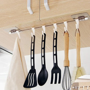 Kitchen Gadgets Cupboard 6 Hook Home Organizer