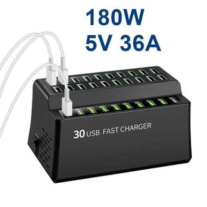 Smart 180W 36A USB charger with 30 usb