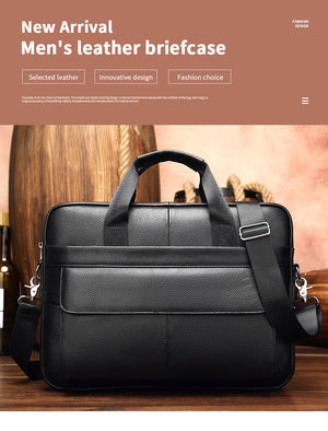 Men's Briefcase Leather Laptop Bag for Men