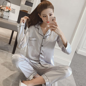 Silk Satin Pajamas for Women's pyjamas set