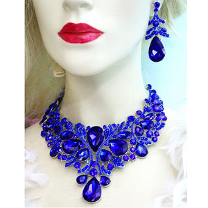 Royal  blue color Women jewelry sets