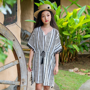 2018 Summer Girls Bohemia Vacation Beach Dress Holiday Clothes Teenage Big Kids Clothing Age 89 10 11 12 13 14 15 16 Years Old