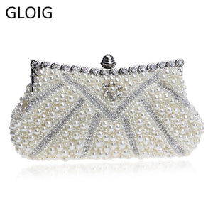 Beaded Women Evening Bags Rhinestones Clutches