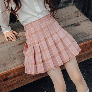 2019 Mini Skirt Spring Summer Clothes For 6 7 8 9 10 11 12 13 14 15 16 Years Big Girls Plaid Skirts Teenagers Jupe Fille Faldas