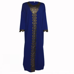 African Dresses For Women New Embroidered Long Kaftan Solid Plus Size Summer Dress Fashion Maxi Elastic