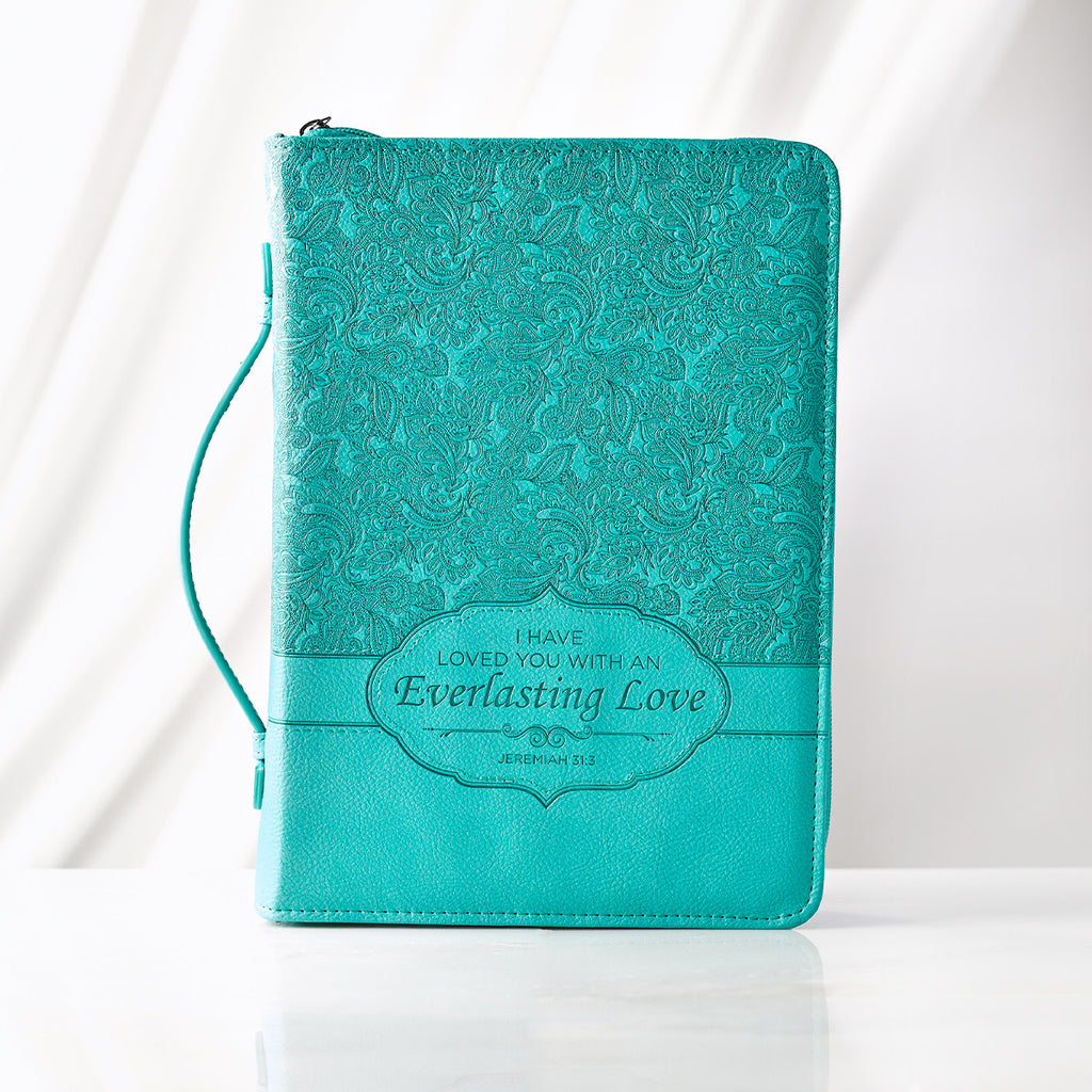 Bible Cover: Teal - Large