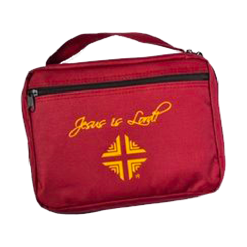Bible Cover: D & V Logo - Burgundy