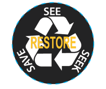 RESTORE-See Seek Save Pop Sockets - Black