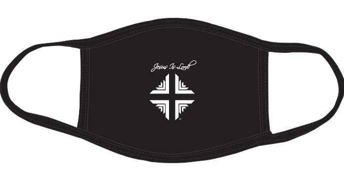 Mask: Jesus Is Lord! Black w/D & V logo