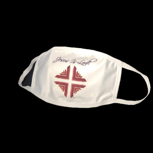 Mask: Jesus Is Lord! White w/D&V Logo