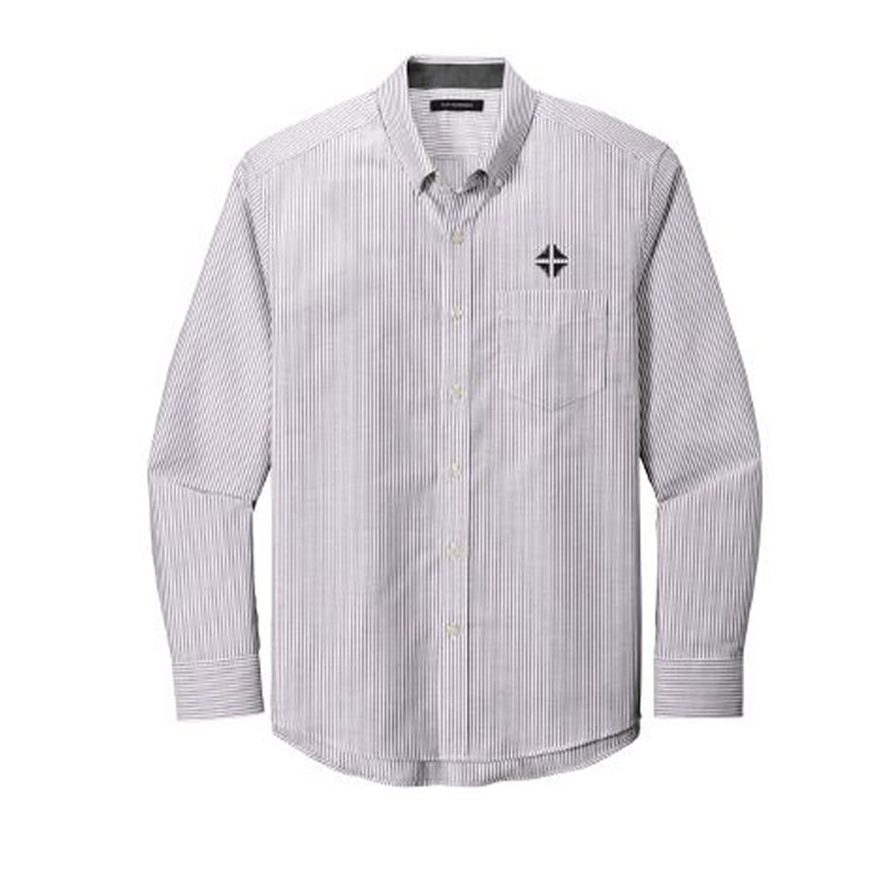 Shirt: Striped Oxford Shirt - Men's