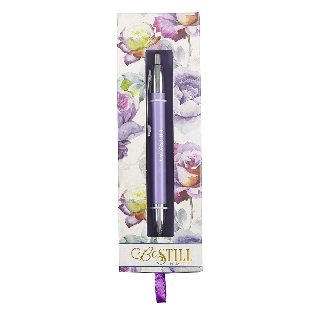Pen: Be Still & Know - Purple