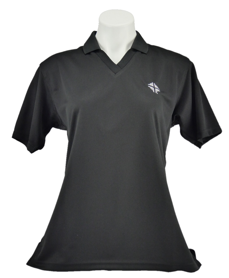 Shirt: Ladies Polo -  Black w/D & V Logo