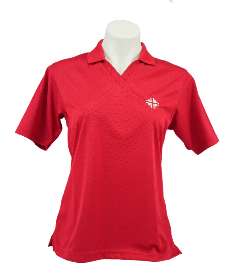 Shirt: Ladies Polo - Red w/D & V Logo