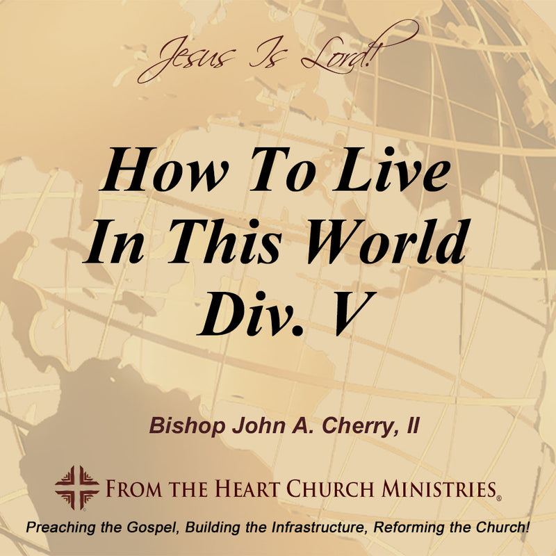 How To Live In This World Div. V