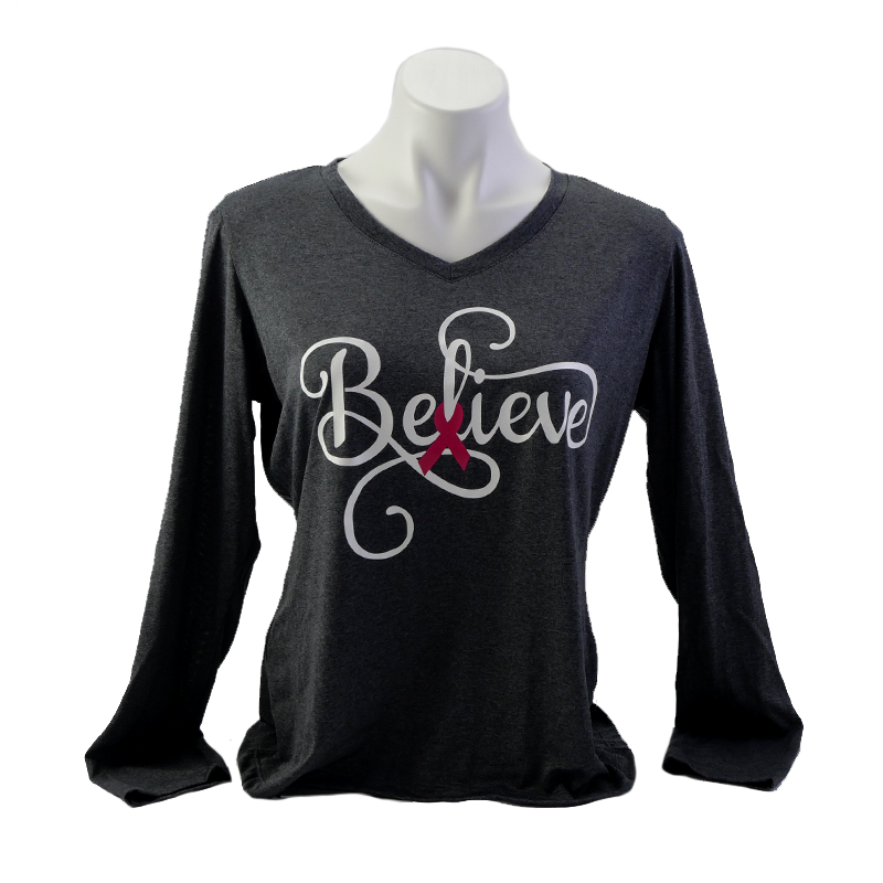 Pink: Believe Gray T-shirt
