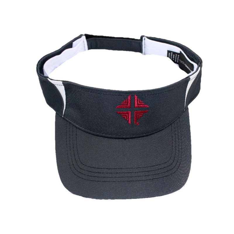 Visor: Black with Red Logo DV