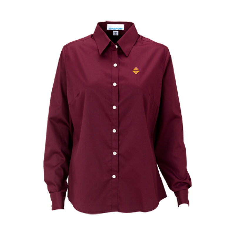 Shirt: Women's Burgundy Shirt w/D&V Logo