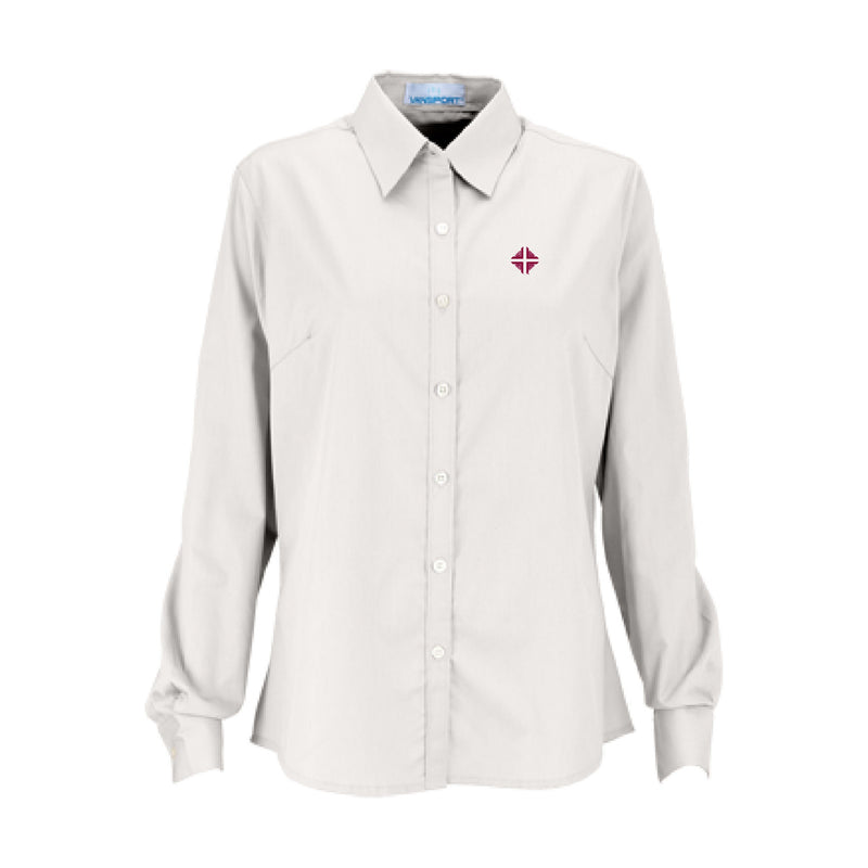 Shirt: Women's White Shirt w/D&V Logo