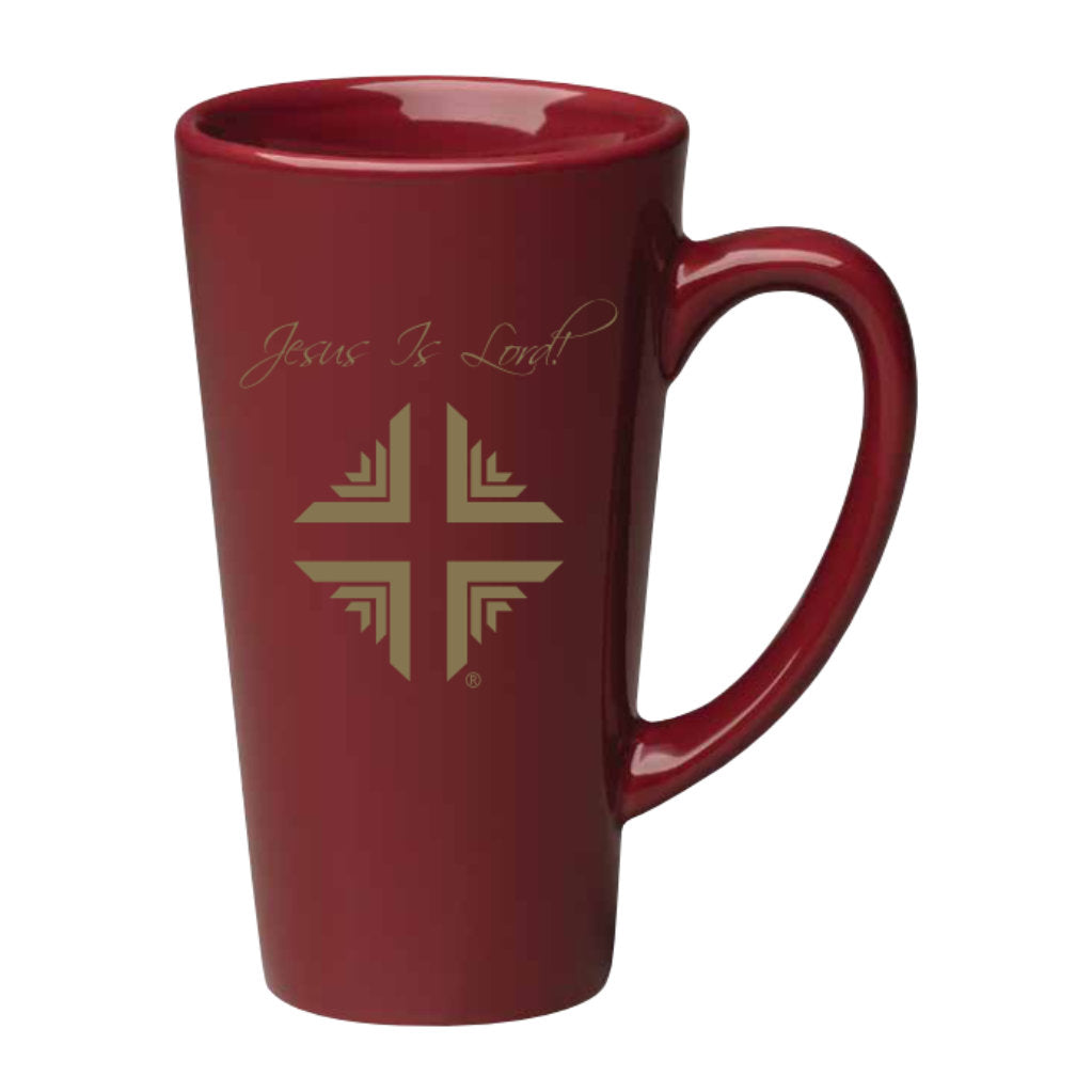 Mug: 16 Oz Burgundy Tall with Gold Logo DV