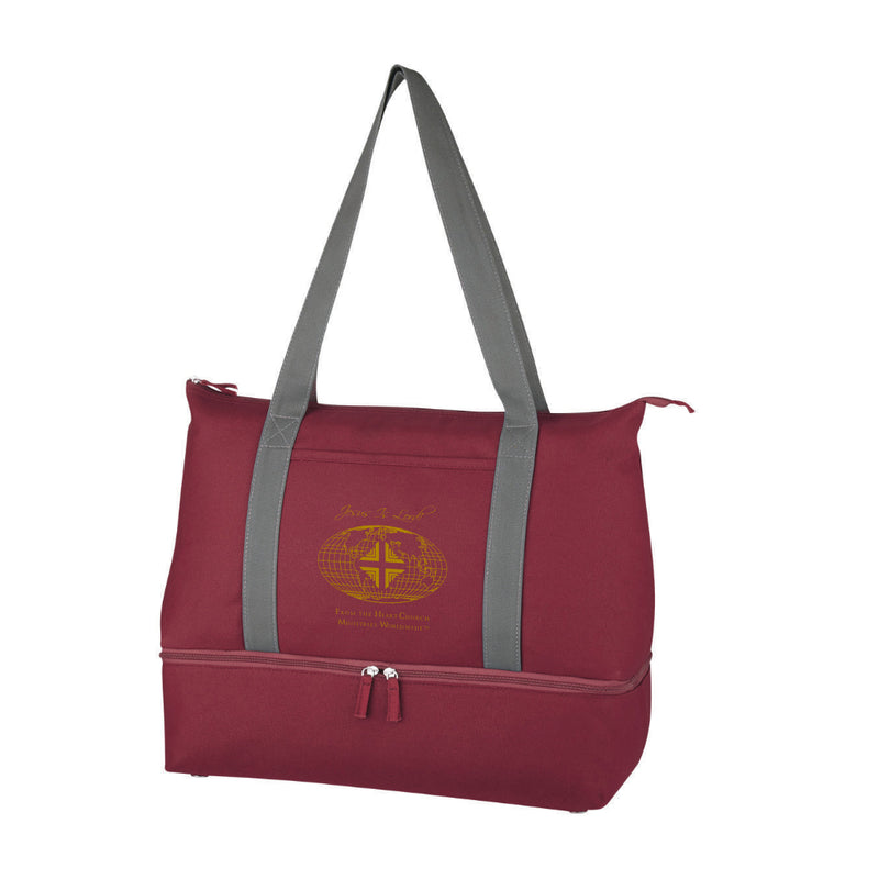 Tote Bag: Burgundy Logo WW