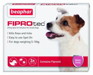 Beaphar Fiprotec Spot On Small Dog(FREE DELIVERY ON 3 & 6 PACKS)