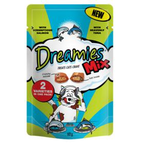 Description: Dreamies Mix Salmon and Tuna 60g