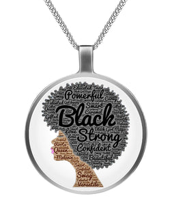 Natural hair black strong Necklaces