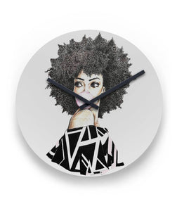 Natural Hair Melanin Poppin Wall Clock