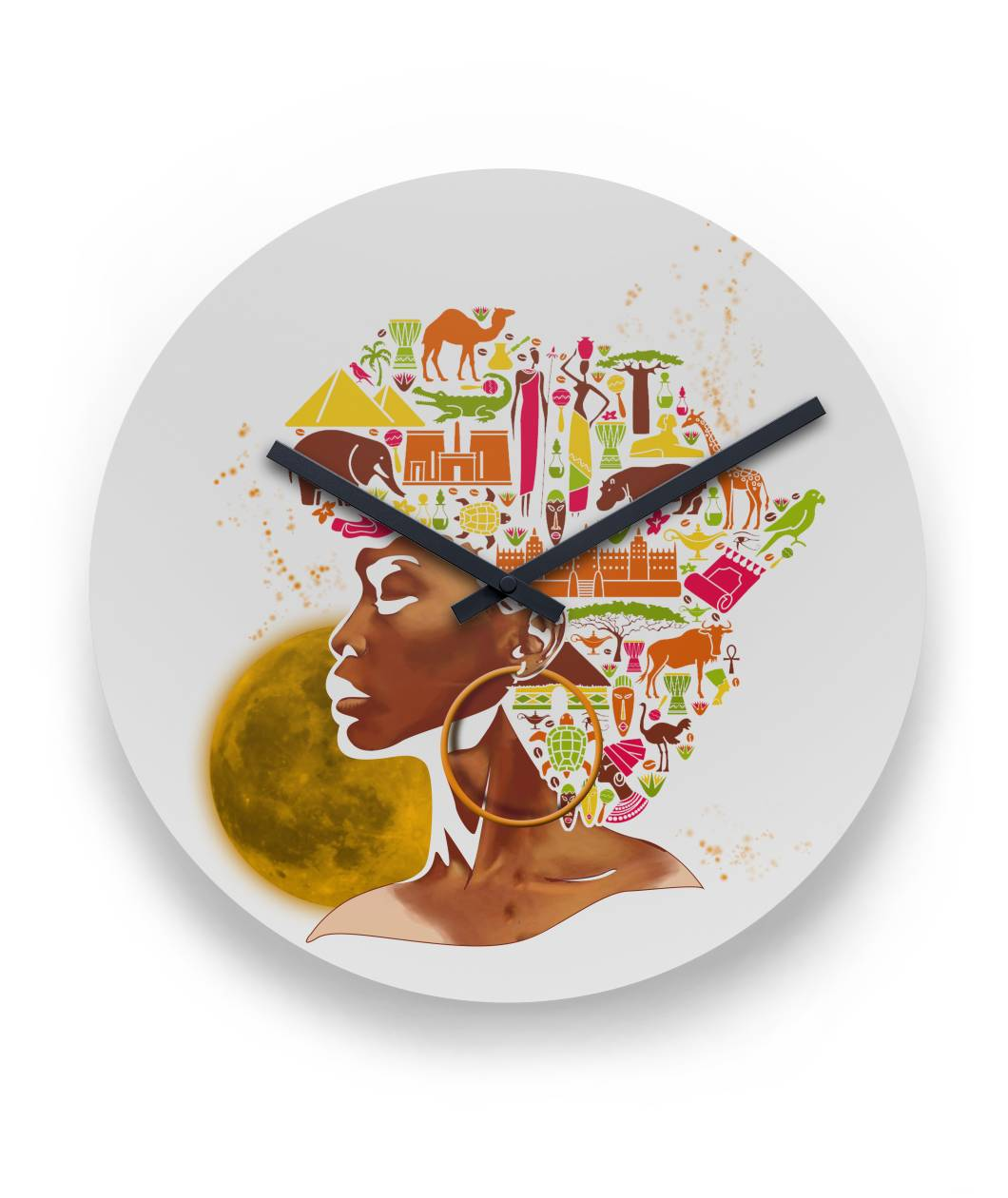 African women Black Month History Wall Clock