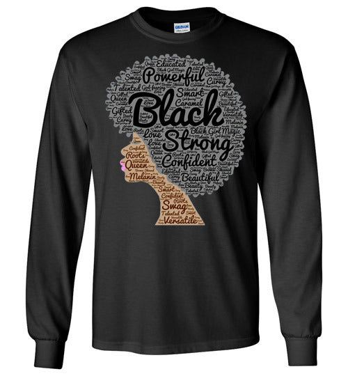 Afro Natural Hair Black Strong