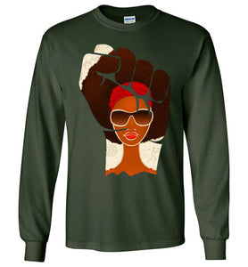 Afro Natural Girl Are Strong
