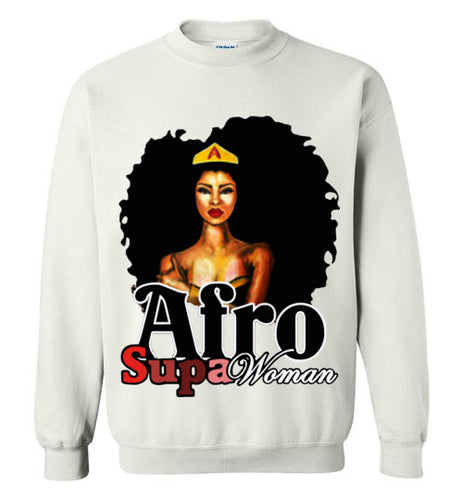 Afro Natural Hair Super Woman