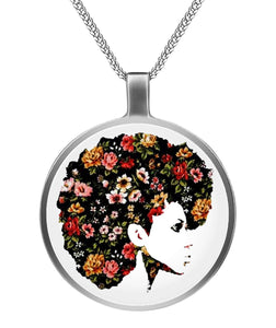 Afro Natural Hair Flower Necklaces