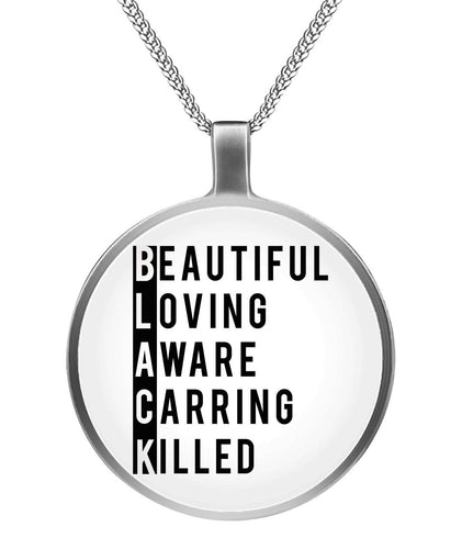 Black History Beautiful Loving Necklace