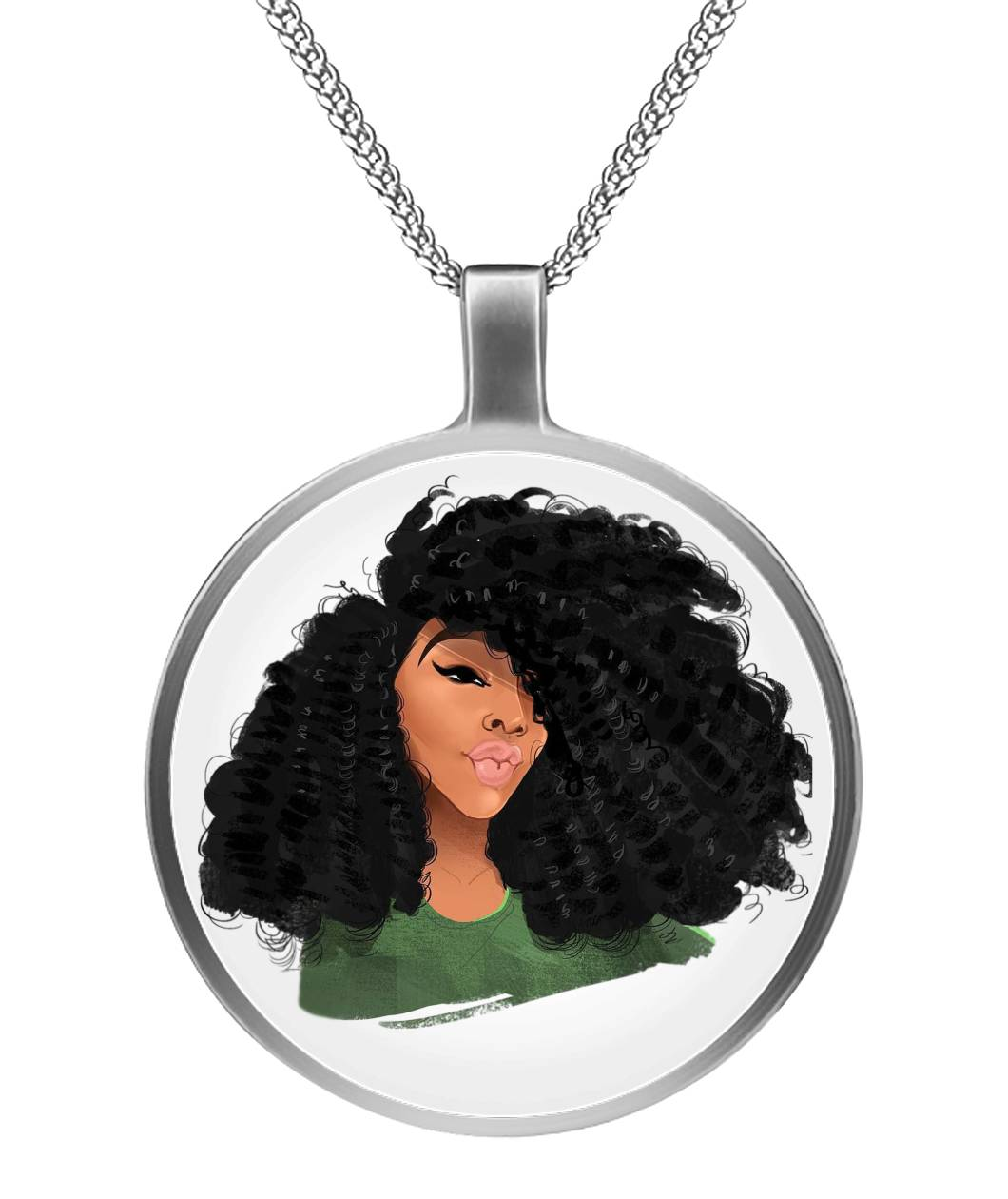 Afro Natural Hair-Curls Necklaces