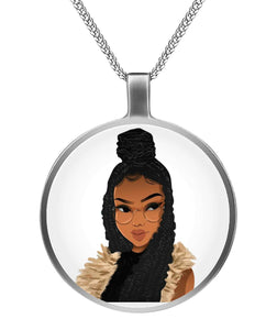 Natural Hair-Locs And Braids Necklaces
