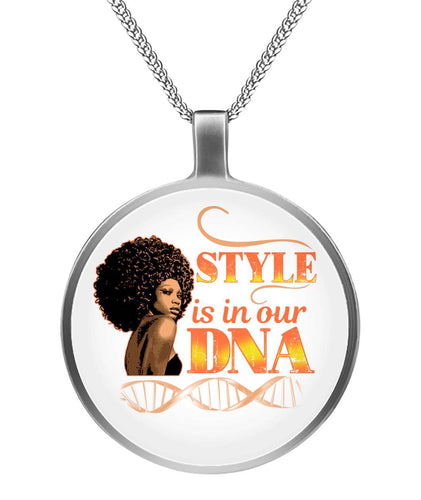 Hair Style Is In Our DNA Necklace