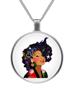 Afro Natural Hair Love Necklaces
